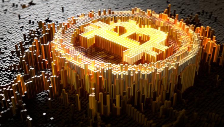 золотой биткоин